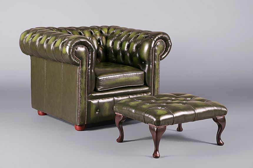 Chesterfield Club Armchair Green Chairs Furniture On The Move