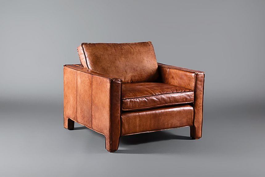 Italian Leather Tan Single Seater