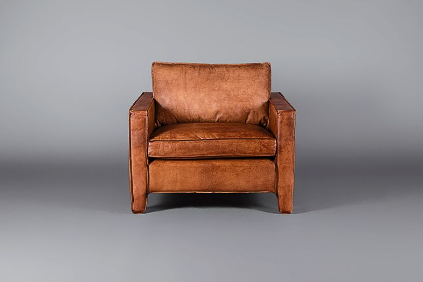Delightful Italian Leather Tan Single Seater