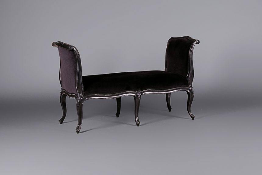 Louis Moulin Noir Sleigh Bench Seat Sofas Furniture On The Move