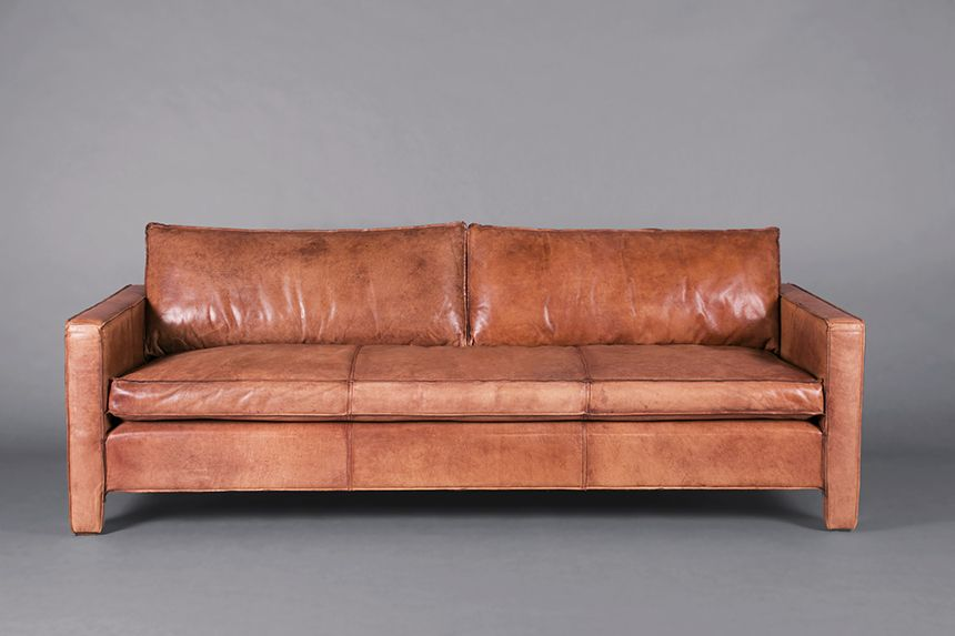 Italian Leather Tan 3 Seater Sofa