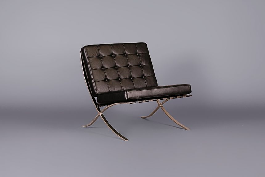product and lounge black chair leather barcelona ottoman