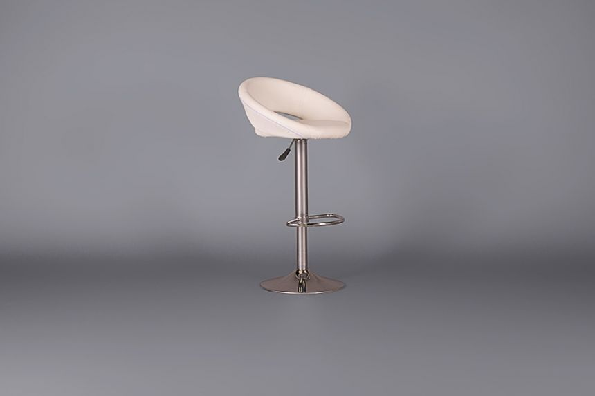 Retro White Circles Adjustable Bar Stool Stools