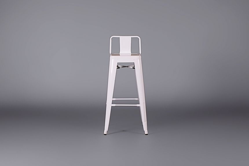 Metal Bar Stool With Back White Stools Furniture On