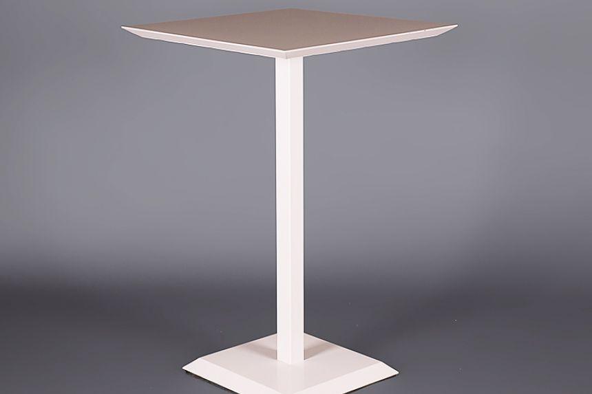 White Metal Garden Side Table: White Metal Outdoor Poseur Table Poseur Tables