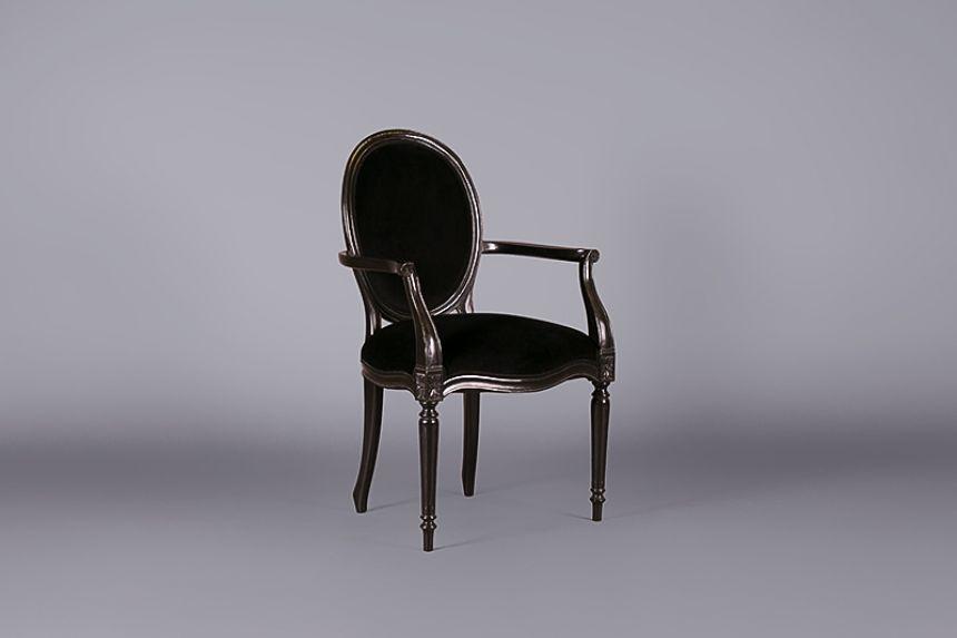 Superior Louis Black Velvet Armchair Design