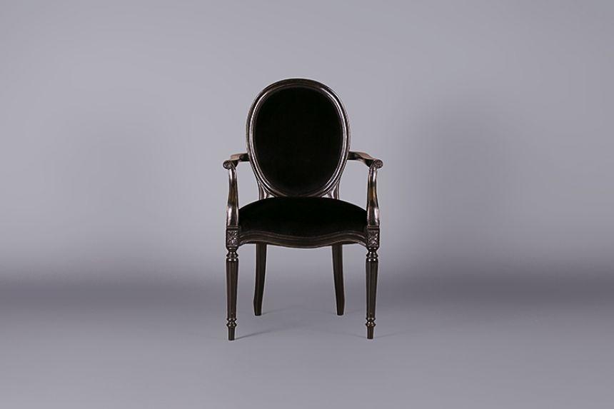Louis Black Velvet Armchair