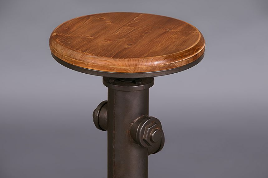 Industrial Stool With Wooden Top Stools Furniture On