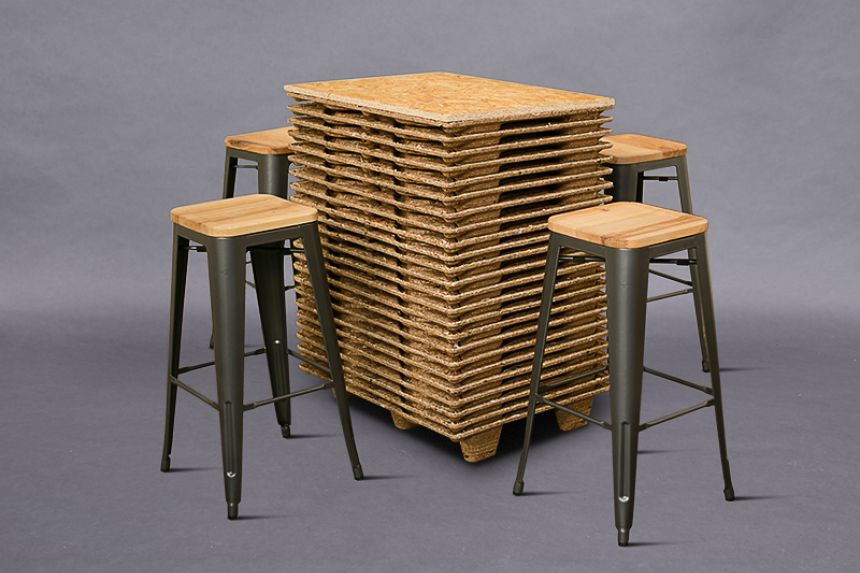 Terrific Pressed Pallet Table High Poseur Tables Furniture On The Machost Co Dining Chair Design Ideas Machostcouk