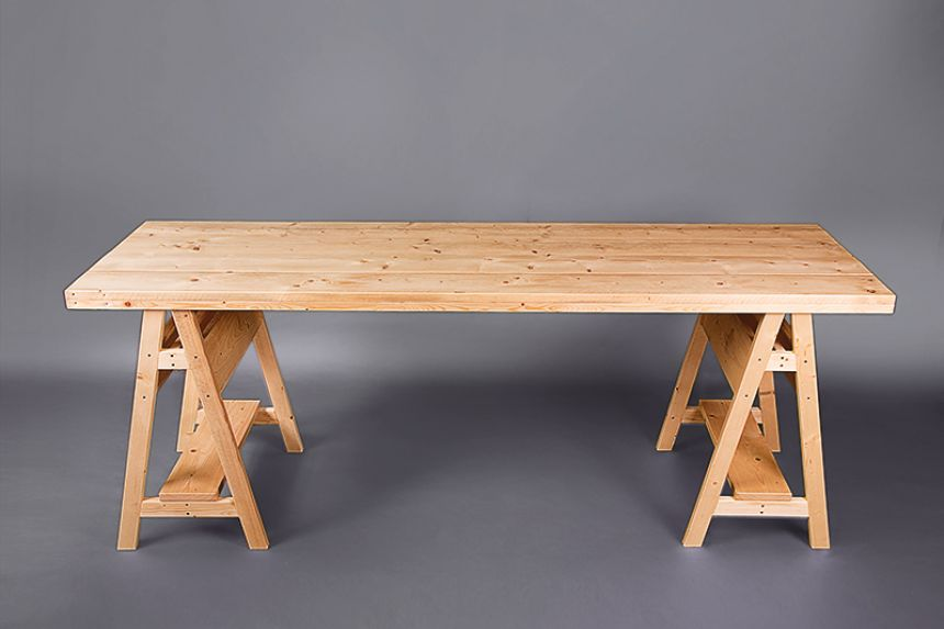Nice Scandi Trestle Table (Bar Height)