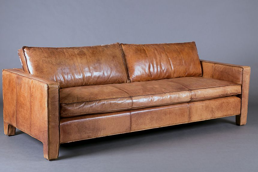 Italian Leather Tan Three Seater Sofa Sofas Furniture On The Move