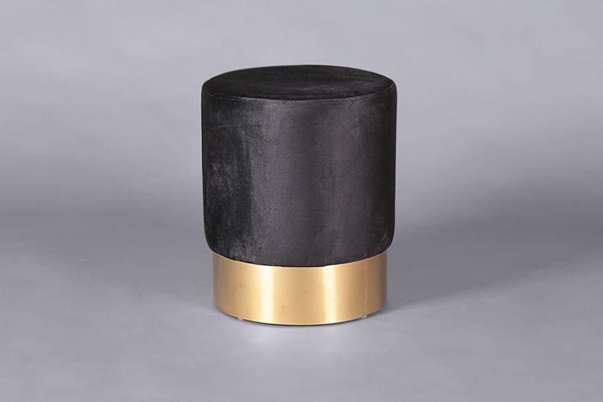 Fabulous Velvet Low Stool Black Stools Furniture On The Move Uwap Interior Chair Design Uwaporg