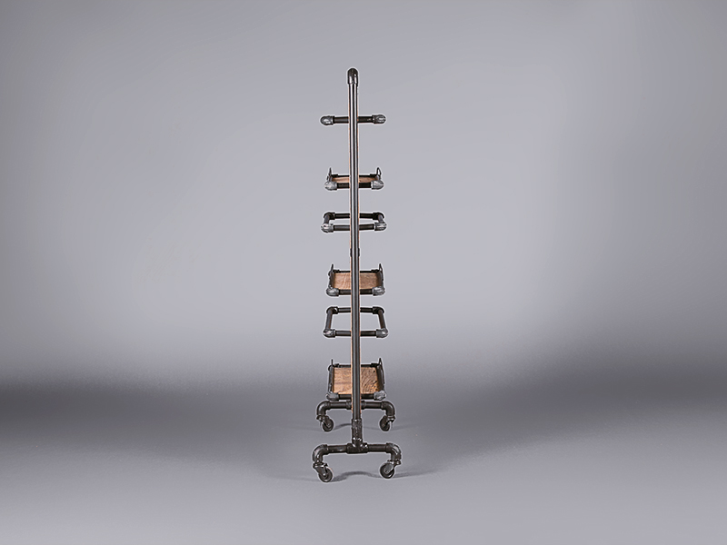 Pipe And Wood Industrial Magazine Rack Accessories