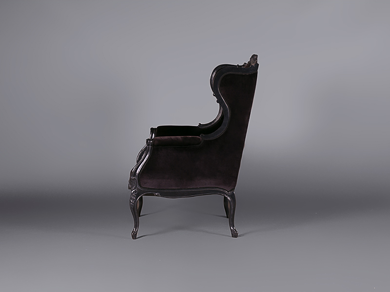 Louis Black Velvet Wing Chair Chairs Furniture On The Move