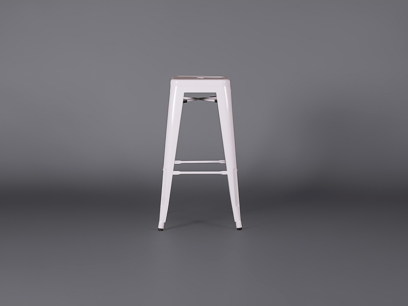 Metal Bar Stool White Stools Furniture On The Move