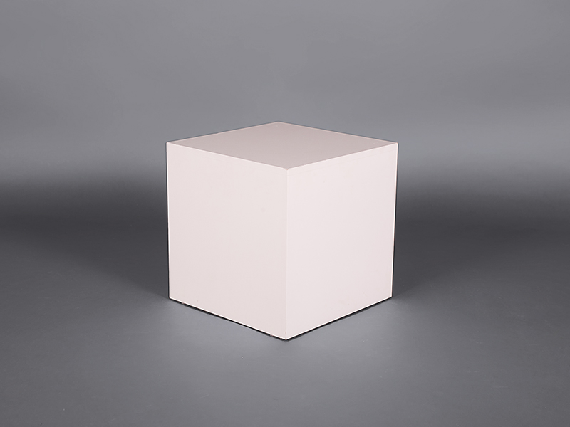 White Satin Cube Coffee Table Coffee Tables And Side