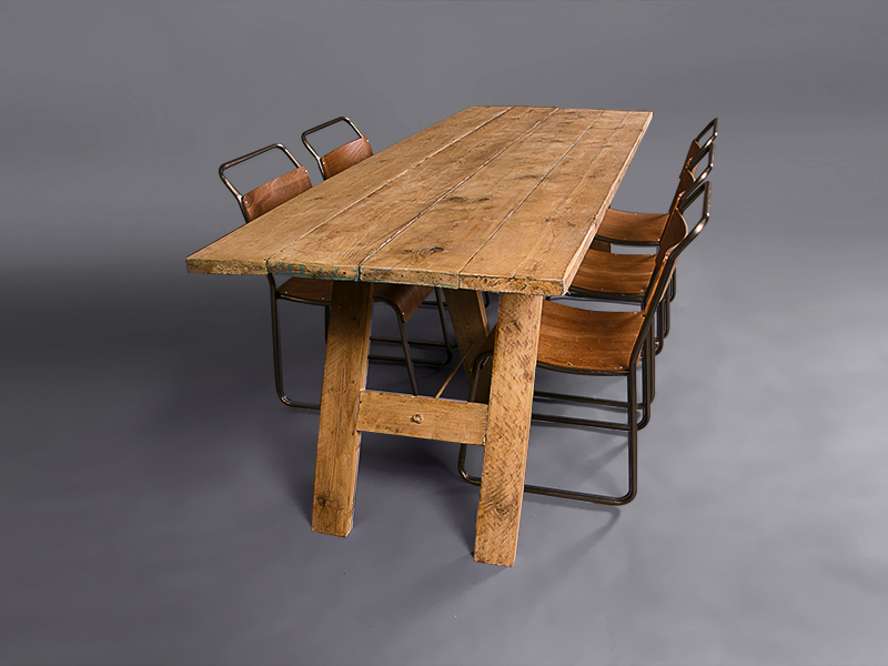 Rustic Trestle Table Outdoors Furniture On The Move