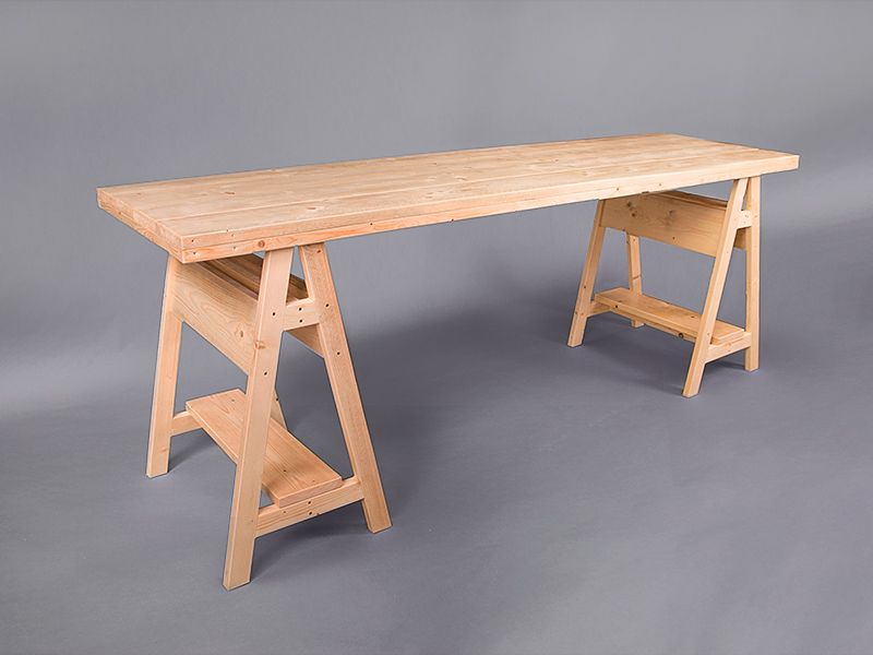 Scandi Trestle Table Bar Height Poseur Tables