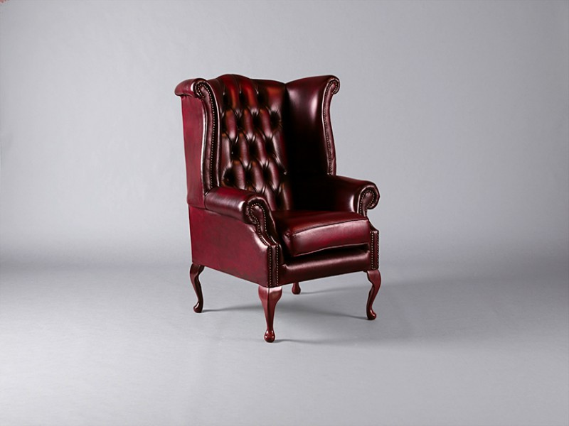 Completely new Chesterfield Queen Anne Wing Chair: Oxblood - Chairs - Furniture  RU15