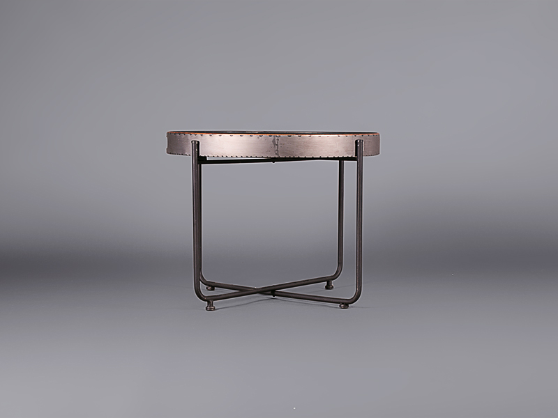 Black Round Tray Table - Large